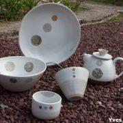 Céramique contemporaine, vaisselle de Juliette Lecuyer, ancienne élève de l'école créamik