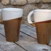 Céramique traditionnelle, tasses de Corentin Legall, ancien élève de l'école Créamik