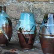 Vases émaillés de Corentin Legall, ancien élève de l'école Créamik