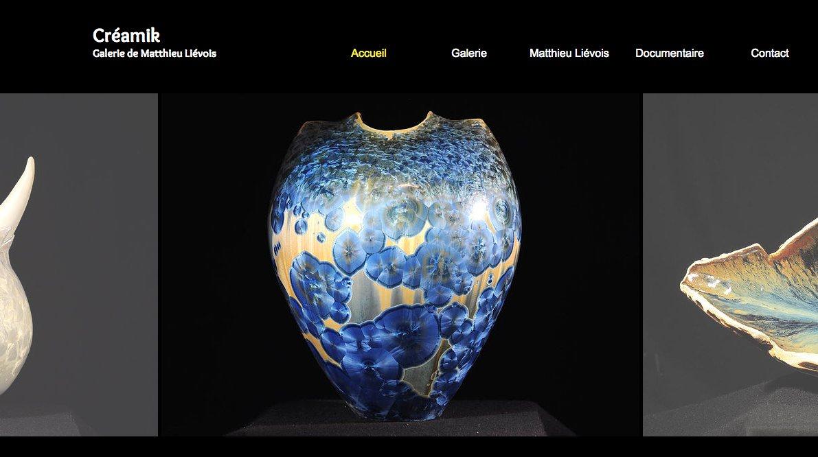 Galerie Créamik, boutique en ligne de céramiques de Matthieu Liévois