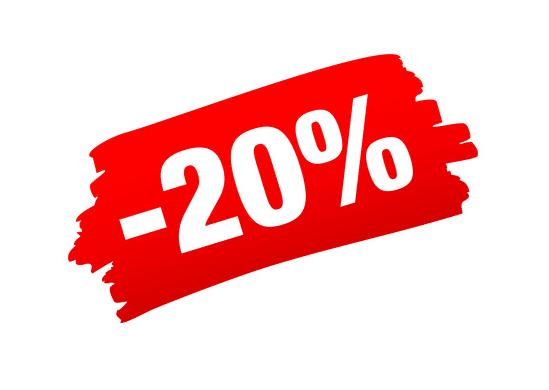 moins vingt pour cent